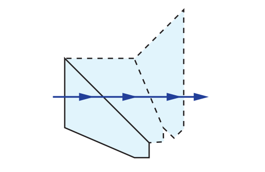 Half-Penta Prism Tunnel Diagram